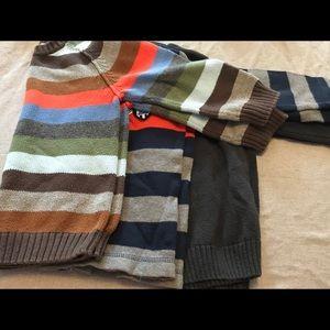 3 boys size 4T sweaters.